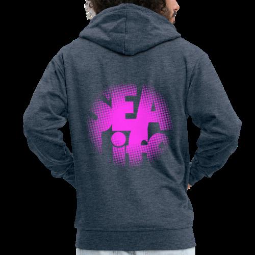 Sealife surfing tees, clothes and gifts FP24R01B - Miesten premium vetoketjullinen huppari