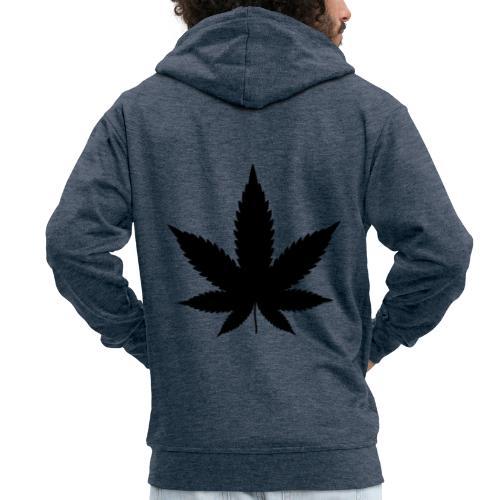 CannabisBlack - Männer Premium Kapuzenjacke