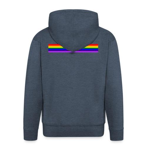 Bande arc en ciel/rainbow band - Veste à capuche Premium Homme