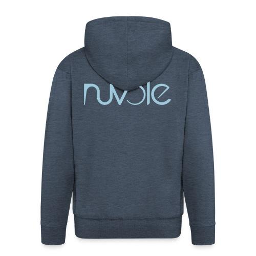 Nuvole - Logo esteso blu - Felpa con zip Premium da uomo