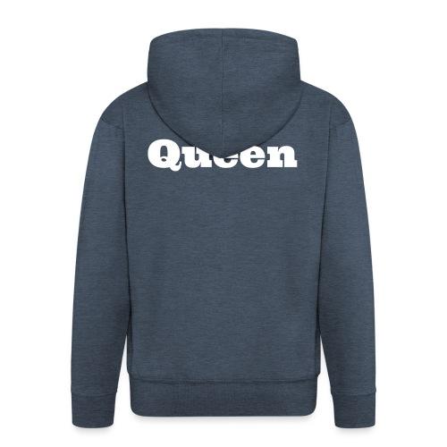 Snapback queen zwart/blauw - Mannenjack Premium met capuchon