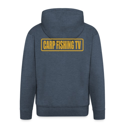 carpfishing-tv - Felpa con zip Premium da uomo