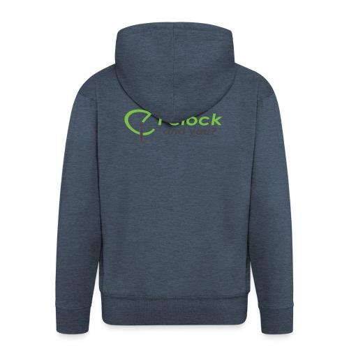 I clock, and you ? - Felpa con zip Premium da uomo