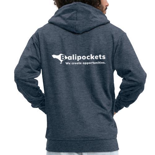 Balipockets Logo Weiß - Männer Premium Kapuzenjacke