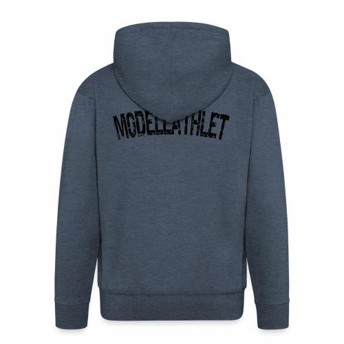Modellathlet, T-shirt für Bodybuilder und Sportler - Männer Premium Kapuzenjacke