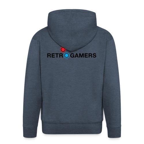 Logo Retrogamers Negro - Chaqueta con capucha premium hombre