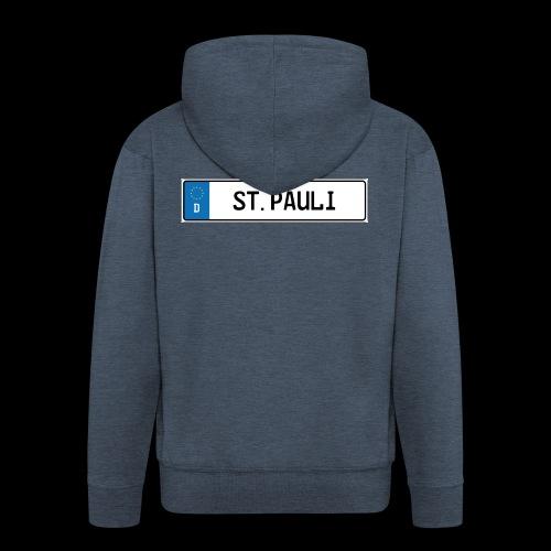 Kennzeichen St.Pauli - Männer Premium Kapuzenjacke