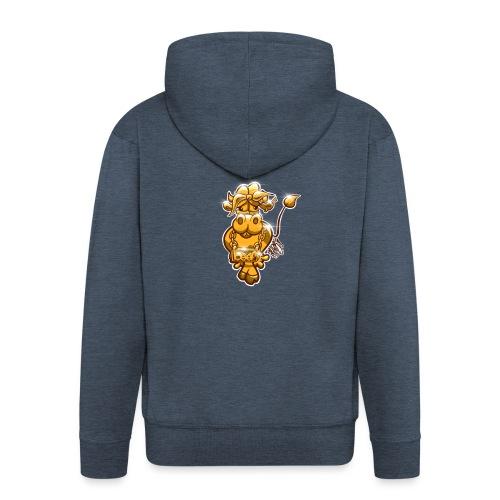 Goldene Gangster Kuh / Gold Thug Cow - Männer Premium Kapuzenjacke