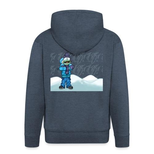 Freezing Turtle Snowboarder/Frierender Snowboarder - Männer Premium Kapuzenjacke
