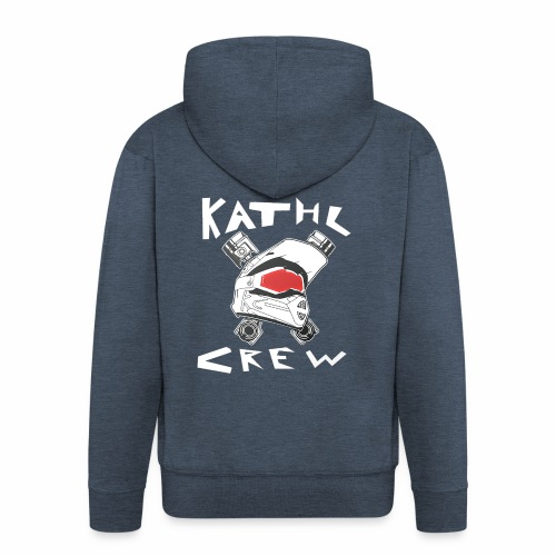 Kathl Crew Logo mit Schriftzug - Männer Premium Kapuzenjacke