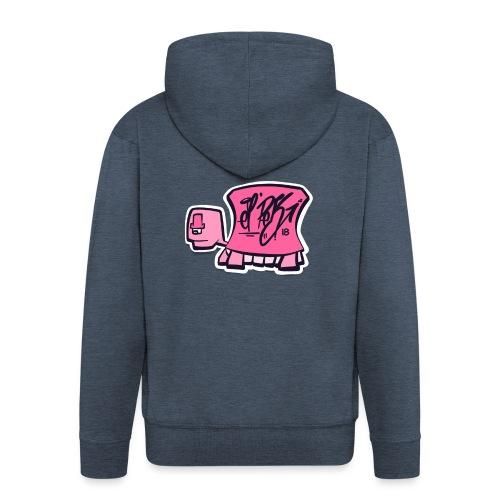 Tag turtle / Pink Schildkröte Logo - Männer Premium Kapuzenjacke