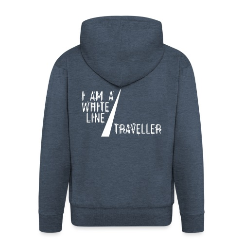 i am a white line traveller - Mannenjack Premium met capuchon