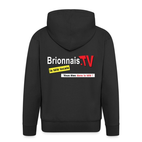 BTV logo shirt dos - Veste à capuche Premium Homme