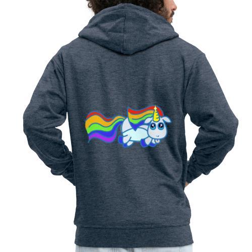 Nyan unicorn - Felpa con zip Premium da uomo