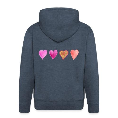 Herzen - Männer Premium Kapuzenjacke