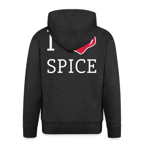 i_love_spice-eps - Miesten premium vetoketjullinen huppari