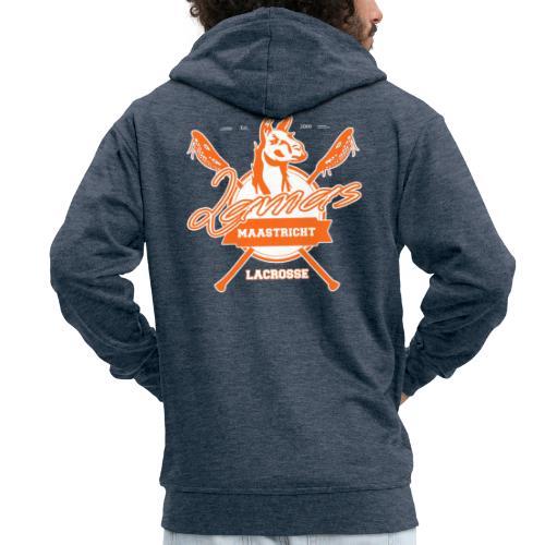 Llamas - Maastricht Lacrosse - Oranje - Mannenjack Premium met capuchon