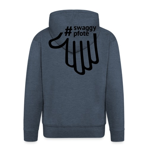 #swaggypfote T-Shirt (Schwarz) - Männer Premium Kapuzenjacke