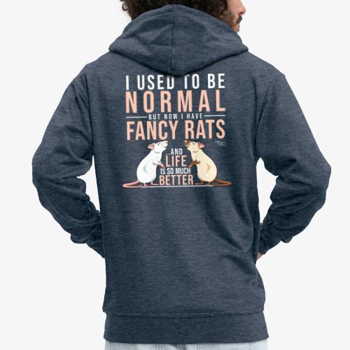Rats Normal V - Miesten premium vetoketjullinen huppari