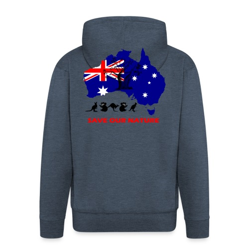 Australien - RETTE LEBEN - JETZT! - Männer Premium Kapuzenjacke
