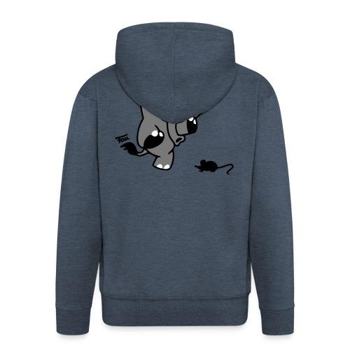 Elefant + Maus - colored - Männer Premium Kapuzenjacke