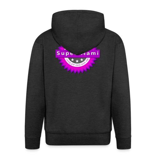 Badge Super-Mami - Männer Premium Kapuzenjacke