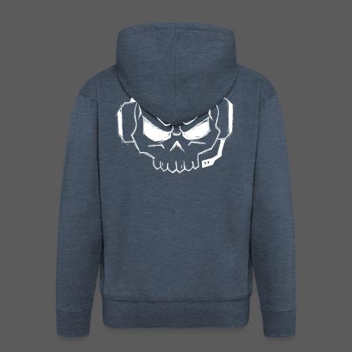Gamer Skull Logo WHITE - Männer Premium Kapuzenjacke