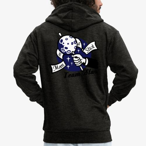 Moon on a Stick - Team Star - Men's Premium Hooded Jacket