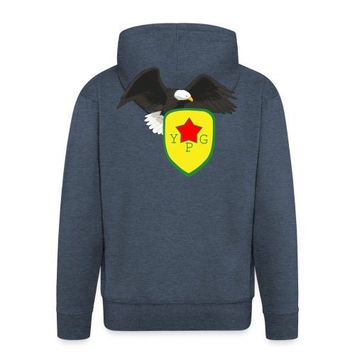 Mens Support YPG Hoodie - Miesten premium vetoketjullinen huppari