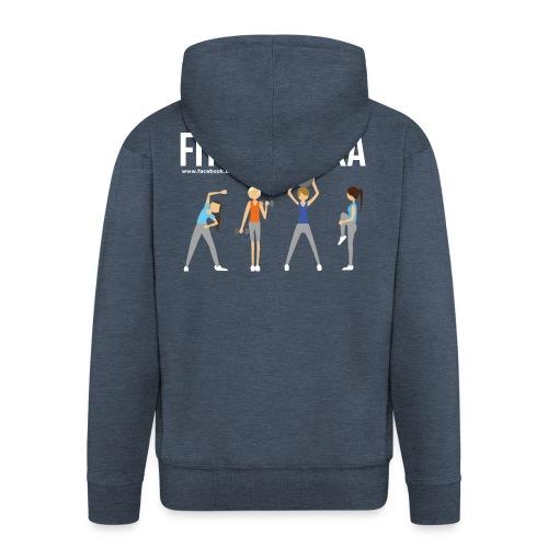 Fitmamuśka - Koszulka Czarna - Rozpinana bluza męska z kapturem Premium