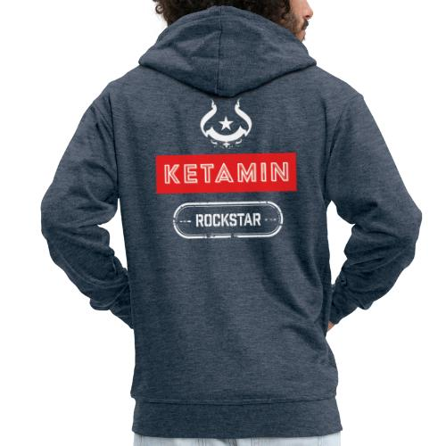 KETAMIN Rock Star - Weiß/Rot - Modern - Men's Premium Hooded Jacket