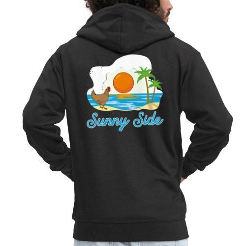 Sunny side - Felpa con zip Premium da uomo