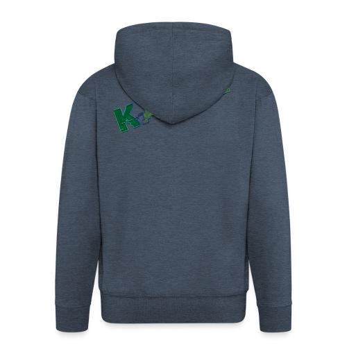 kappy - Felpa con zip Premium da uomo