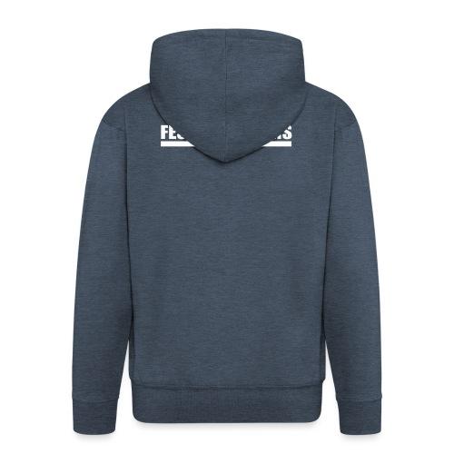 Festering Films Logo (White) - Men's Premium Hooded Jacket