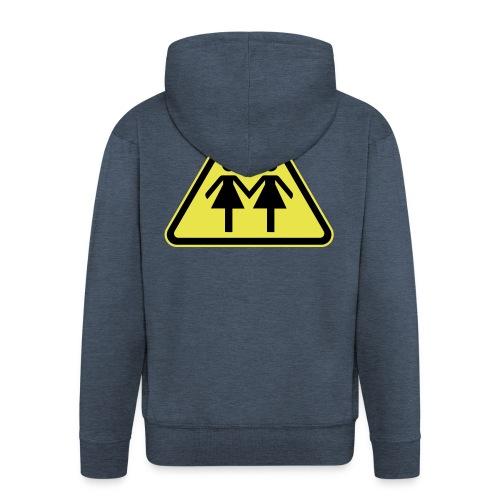 ACHTUNG LESBEN POWER! Motiv für lesbische Frauen - Männer Premium Kapuzenjacke