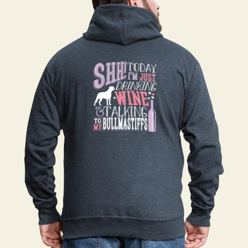 SHH Bullmastiff Wine - Miesten premium vetoketjullinen huppari