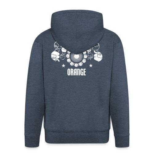 Orangevibes Logo weiss - Männer Premium Kapuzenjacke