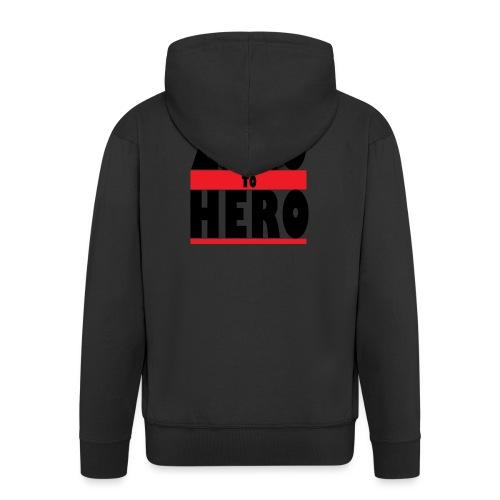 Zero To Hero - Miesten premium vetoketjullinen huppari