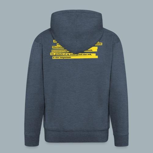 Nederlandse Grondwet T-Shirt - Artikel 1 - Mannenjack Premium met capuchon