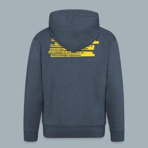 Nederlandse Grondwet T-Shirt - Artikel 94 - Mannenjack Premium met capuchon