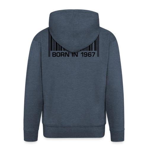 born in 1967 50th birthday 50. Geburtstag barcode - Men's Premium Hooded Jacket