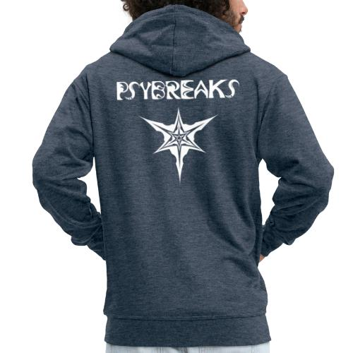 Psybreaks visuel 1 - text - white color - Veste à capuche Premium Homme