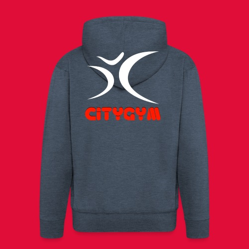 CityGym Drawstring Gym Bag - Men's Premium Hooded Jacket