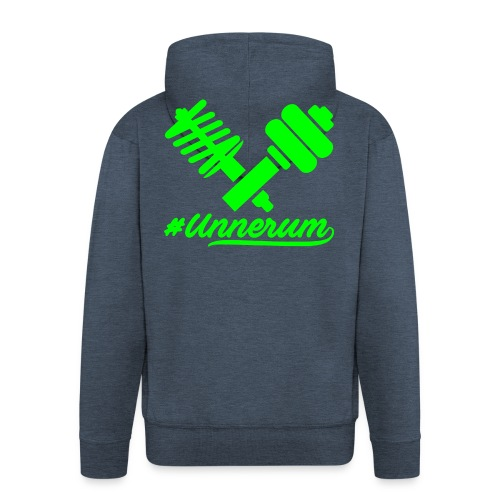 Logo #Unnerum - Männer Premium Kapuzenjacke
