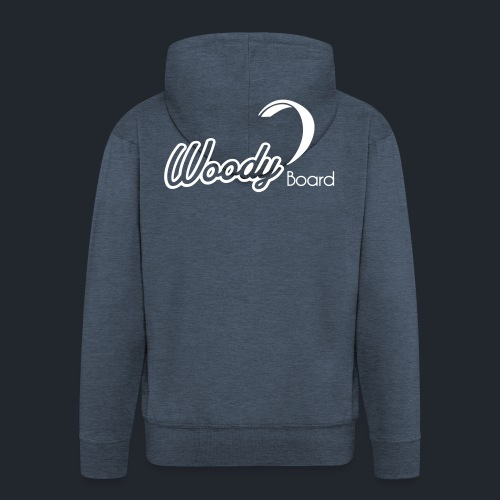 Logo Woodyboard Blanc - Veste à capuche Premium Homme