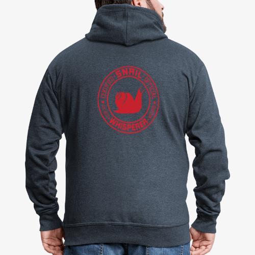 Snail Whisperer Red - Miesten premium vetoketjullinen huppari