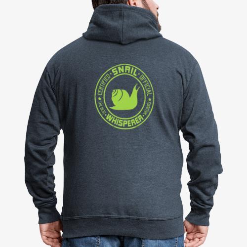 Snail Whisperer Green - Miesten premium vetoketjullinen huppari