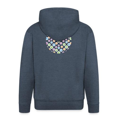 kropki - Rozpinana bluza męska z kapturem Premium