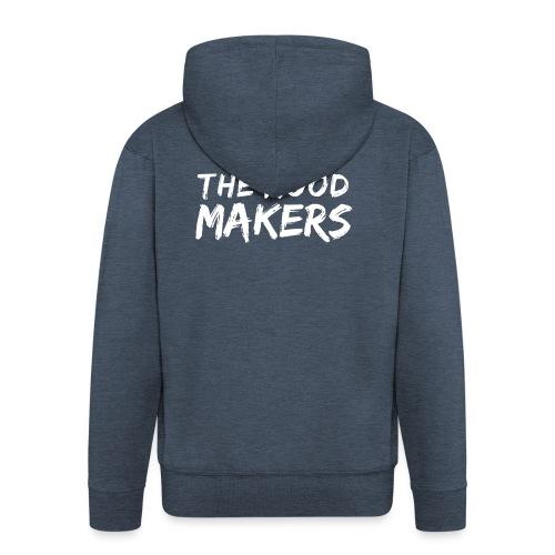 Jlei & The Mood Makers Schriftzug Weiss - Männer Premium Kapuzenjacke