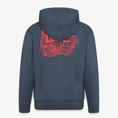 cosmos1 red graffiti love - Männer Premium Kapuzenjacke